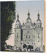 St Paul And St Peter Cathedrals In Kiev - Ukraine - Ca 1900 Wood Print