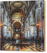 St Paul Cathedral Interior Wood Print