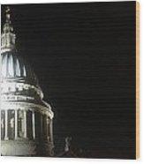 St Pauls At Night Wood Print