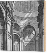 St. Paul's Cathedral, Historical Artwork Wood Print
