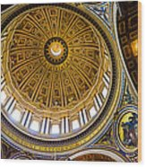 St Peter's Basilica Dome  Wood Print