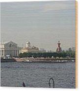 St Petersburg And River Neva - Russia Wood Print
