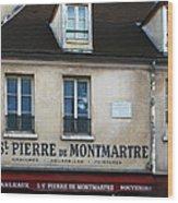 St Pierre De Montmartre Paris Scene Wood Print