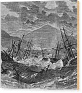St. Thomas: Hurricane, 1867 Wood Print