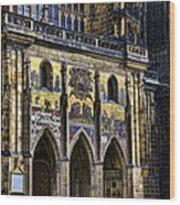 St Vitus Cathedral Entrance Wood Print