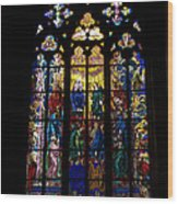 St Vitus Cathedral Stained Glass Wood Print