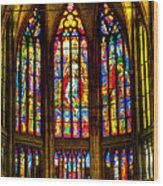 St Vitus Main Altar Stained Glass Wood Print
