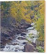 St Vrain Canyon And River Autumn Season Boulder County Colorado Wood Print