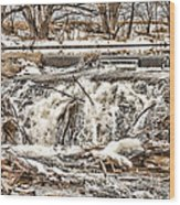 St Vrain River Waterfall   Wood Print