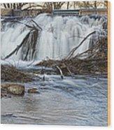 St Vrain River Waterfall Slow Flow Wood Print