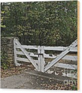 Stable Gate Wood Print