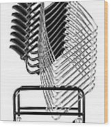 Stacked Chairs Wood Print