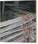 stacked Fence Wood Print