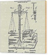 Stage Illusions 1906 Patent Art Wood Print by Prior Art Design