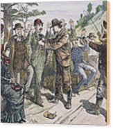 Stagecoach Robbery, 1880s Wood Print