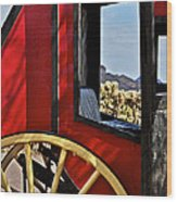 Stagecoach View Wood Print