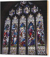 Stained Glass - Bath Abbey Wood Print