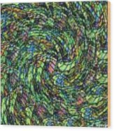 Stained Glass In Abstract Wood Print