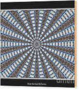 Stained Glass Kaleidoscope 32 Wood Print