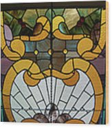 Stained Glass Lc 01 Wood Print