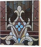 Stained Glass Lc 03 Wood Print