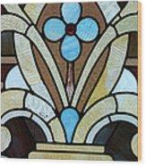 Stained Glass Lc 04 Wood Print
