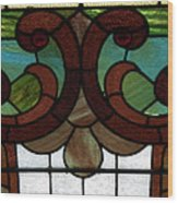 Stained Glass Lc 08 Wood Print