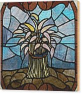 Stained Glass Lc 11 Wood Print