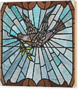 Stained Glass Lc 14 Wood Print
