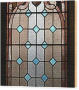 Stained Glass Lc 15 Wood Print