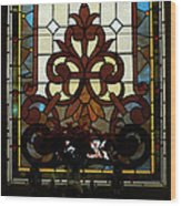 Stained Glass Lc 16 Wood Print