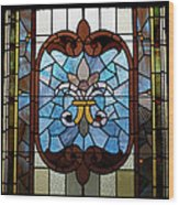 Stained Glass Lc 19 Wood Print
