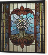 Stained Glass Lc 20 Wood Print