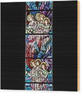 Stained Glass Pc 07 Wood Print