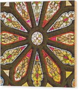 Stained Glass Wood Print