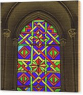 Stained Glass Window In Mezquita Wood Print