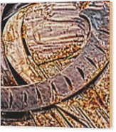 Stainless And Rust Abstract Wood Print