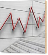 Stair Bannister Shaped Like A Graph Wood Print