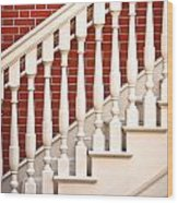 Stair Case Wood Print by Tom Gowanlock