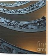 Staircase At The Vatican Wood Print by Bob Christopher