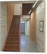 Staircase In Old Building Wood Print