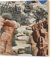 Staircase Stones Wood Print