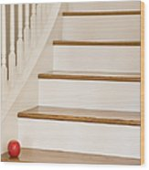 Stairs And Apple Wood Print by Andersen Ross