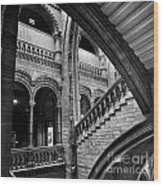 Stairs And Arches Wood Print