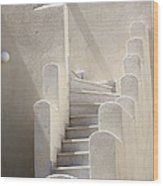 Stairs In Greece Wood Print