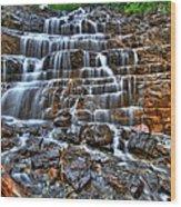 Stairs Of Water Wood Print