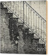 Stairs On A Rainy Day Wood Print