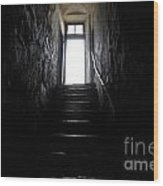 Stairs To The Light Wood Print