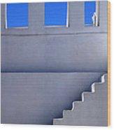 Stairway In Iao Greece Wood Print