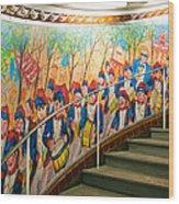 Stairway Mural At Montmartre Metro Exit Wood Print